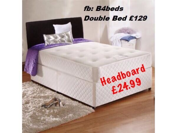 Double divan bed with orthopaedic or memory foam mattress for Memory foam double divan bed sale