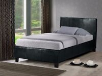 SAME DAY DELIVERY BRAND NEW SINGLE LEATHER BED & MATTRESS === WE DO DOUBLE AND KINGSIZE AS WELL