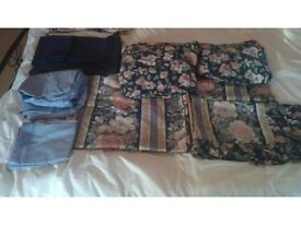 LIKE NEW! SINGLE FULL SET HIGH QUALITY FLORAL AND DARK BLUE BED LINEN by SLEEPING BEAUTIFULLY