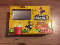 Nintendo 3DS XL Limited edition Super Mario Bro's Console with charger and carry case