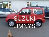 WANTED SUZUKI JIMNY'S FOR CASH FREE COLLETION