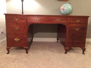 Lovely Antique Leather Top Desk