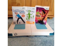 Wii fit board with games Wii fit Plus, My fitness coach & Zumba fitness