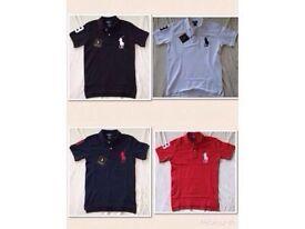 Ralph Lauren kids polo t shirt big pony short sleeves 4x colours 2 for £20 cotton