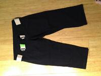 Lululemon Instructor Crops Sz 6 Black with Belt (green/peach)