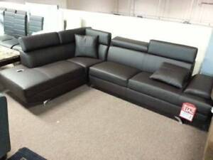 Brand New Dark Brown Sectional Couch Sofa
