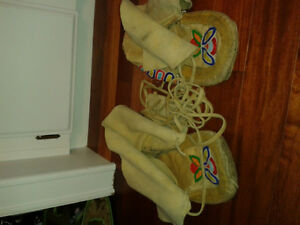 Native American beaded moccassins