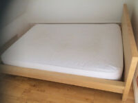 ikea malm double bed frame (mattress also available)