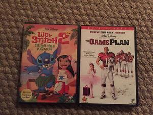6 Walt Disney DVD's