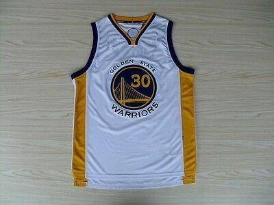 Men's Basketball Jersey Size Small Stephen Curry White Golden State Warriors