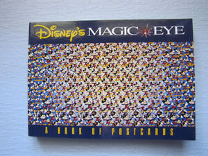 Livre cartes postales Walt Disney's Magic Eye