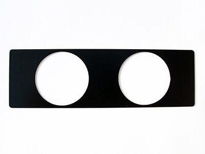 Instrumentenhalter 2 Loch Schwarz für DIN Radioschacht für Zusatzinstrumente NEU