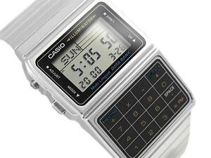 CASIO DATA BANK CALCULATOR WATCH, DBC611 DBC-611-1, SILVER TONE, FREE SHIPPING