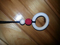 Natural wooden teething necklace