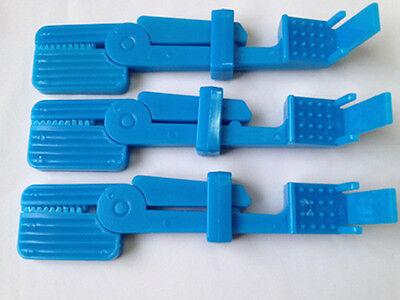 6 Pcs Dental X Ray Film Holder Snap Clips Dentist Lab Equipment Bule Color