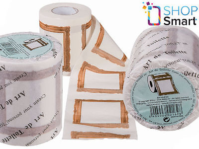 ART PICTURE FRAME CANVAS TOILET PAPER BROWN WHITE LOO TP ROLL WC NOVELTY - Picture Toilet Paper Roll
