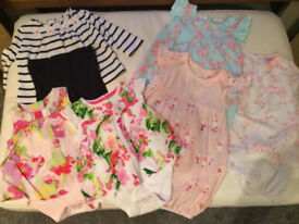 0-3 mths girls outfit bundle