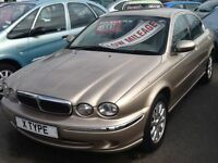 JAGUAR X TYPE ONLY 72,000 MILES 1 OWNERS , FULL YEARS MOT , £1495