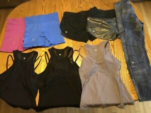 Women's lululemon shorts and tops