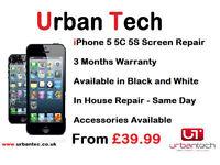 IPHONE 6Plus / 6/ 5s/ 5C /5/4s/4 CRACKED/BROKEN SCREEN REPAIR REPLACEMENT SERVICE FROM £25.00