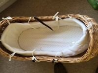 Mothercare Snug Moses basket & stand