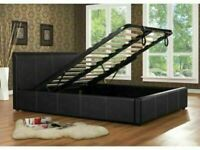 🔵💖🔴your dream furniture🔵💖🔴DOUBLE/KING SIZE LEATHER STORAGE BED FRAME WITH OPTIONAL MATTRESS