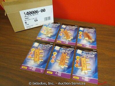 Lot 6 Monster Just Hook It Up 3-Way Coax Splitter Block NEW --- bidadoo Auctions