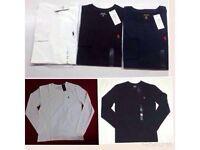 Ralph Lauren men's t shirt crew neck small pony long sleeves £15 each