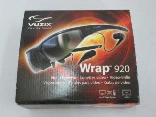 Vintage Vuzix iWear AV920 Video Eyewear Personal Video Display Glasses Model 329