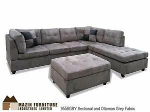 SECTIONAL WITH STORAGE OTTOMAN - PRESALE - ARRIVAL DATE JANUARY 7, 2017