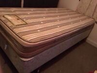 Single divan bed with mattress and beddings -Free delivery