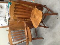 Maple  wood  chairs & table