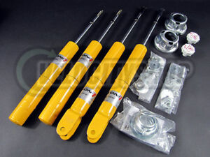 Koni Yellow Adjustable Sport Shocks 92-95 Civic Del Sol 94-01 Integra GSR LS