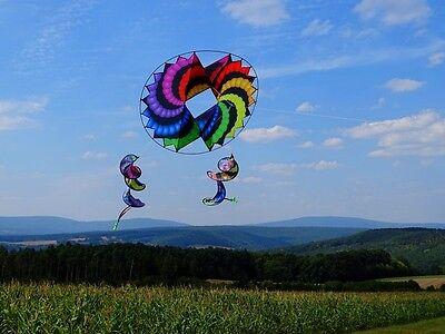 Einleiner-Drachen: fliegender Kreis