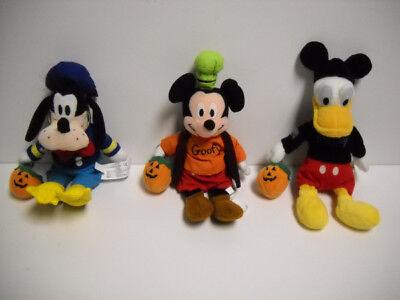 Disney Halloween Goofy As Donald, Mickey As Goofy, Donald As Mickey Bean Bag Set