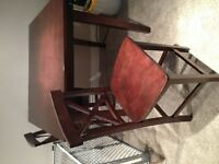 Dark wood bar table great condition!