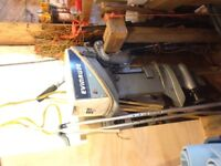9.9hp Evinrude outboard. Cleaning out the shop..