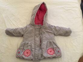 Girls Winter Coat 6-9 months. John Lewis