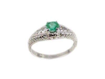 Emerald Ring Inca Goddess 19thC Antique Gemstone Sacred South America Child Gem