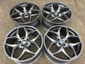 "GENUINE BMW X5 X6 21"" Rims 21X10/11.5 good Shape E70 E71"