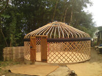 We can build a Yurt for you at your Cottage or Property