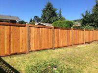 Beautiful cedar fence installation !!