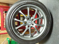 "18"" alloy rims with Goodyear EAgle LSA rubber (Like new!)"