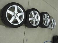 VW factory 17'' Alloy Rims, 225/45R17 91H ContiPro Contact tires