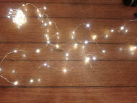 Battery Operated Silver Wire Fairy/Firefly Lights - 20'