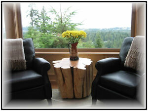 Tree tables by famous Deep Forest furnishings Comox / Courtenay / Cumberland Comox Valley Area image 1