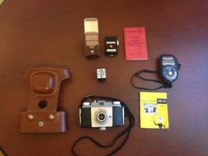 Vintage Kodak Pony 135 Camera + Weston Master 2 Exposure meter