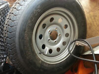 Brand new Trailer Tire and Rim ST205/75D15