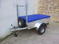 New galvanised 5x3 trailers with waterproof cover ladder rack spare jockey lock