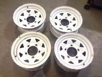 "Land Rover defender 16x7"" wheels £10 each"